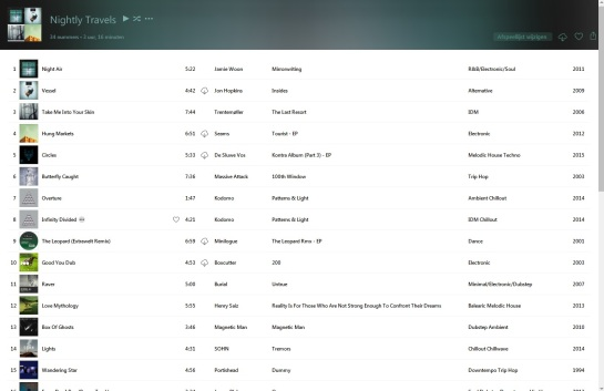 Playlist screenshot 1